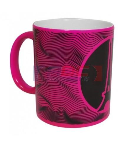 Mug céramique traité 100% polyester couleur fuchsia fluo