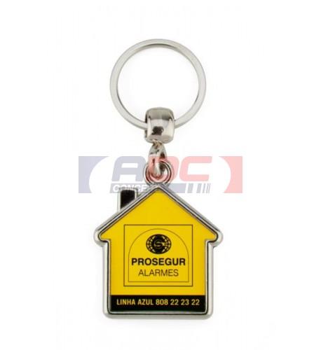 """Lot de 100 porte-clés métalliques """"MY"""" maison 1 face"""