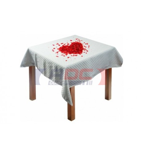 Nappe en tissu blanc à damier 100% microfibre 100 x 100 cm
