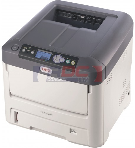 Imprimante laser A4 OKI C7411WT à toner blanc