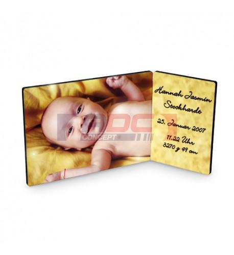 Panneau photo double Chromaluxe en MDF 8,9 x 12,7 cm - 12,7 x 17,8 cm (vendu à l'unité)