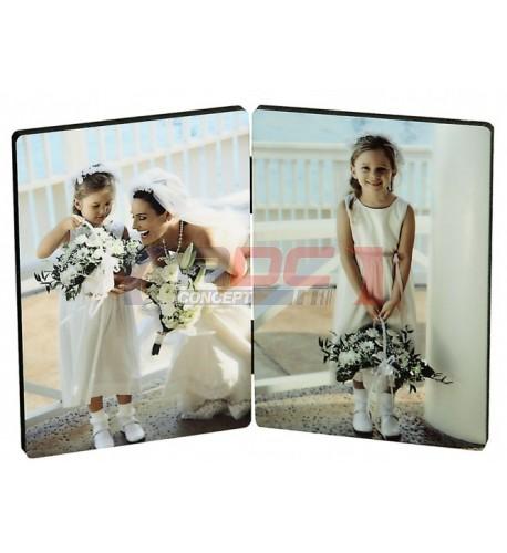 Double panneau photo Chromaluxe 8,9 x 12,7 cm