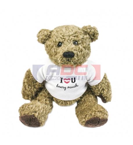 Peluche ours Barney H 16 cm (vendu à l'unité)
