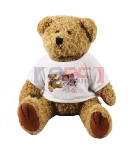 Peluche ours brun Teddy H 22 cm (vendu à l'unité)
