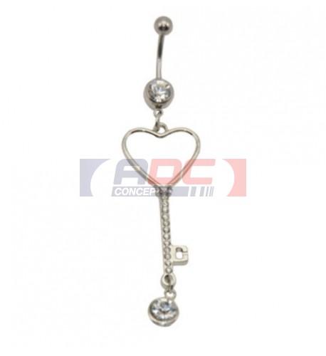 Piercing nombril coeur 20 mm personnalisable en sublimation (vendu à l'unité)