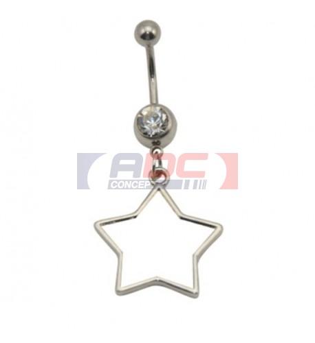 Piercing nombril étoile 20 mm personnalisable en sublimation (vendu à l'unité)