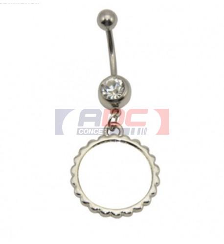 Piercing nombril rond Ø 20 mm personnalisable en sublimation (vendu à l'unité)