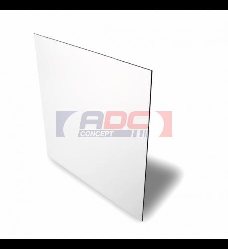 Plaque aluminium 0.5 mm blanc brillant 20 x 30,5 cm