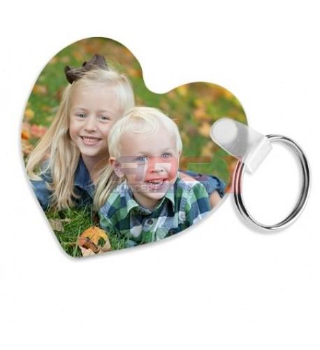 Porte-clé en fibres de verre format coeur Unisub 5,7 x 6,4 cm