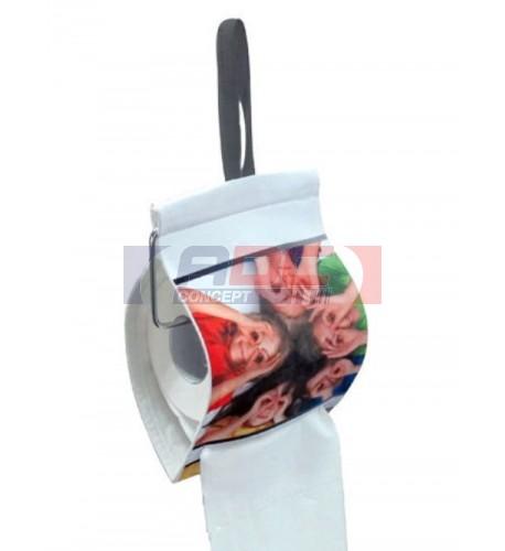 Porte papier toilette en tissu sublimable 14 x 21 cm