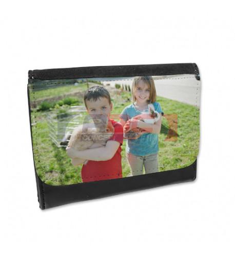Portefeuille en cuir synthétique 13,5 x 10 cm (vendu à l'unité)