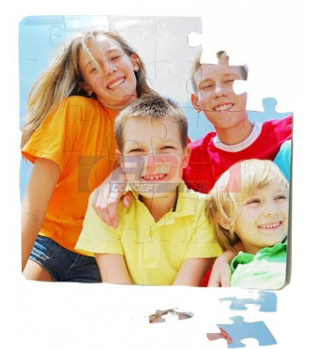 Puzzle en polymère carré 16 x 16 cm épaisseur 3 mm
