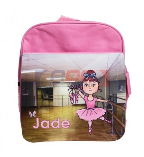 Sac à dos coloris rose pour enfant avec rabat détachable