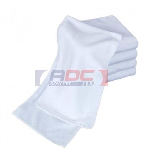 Serviette de sport avec recto polyester pour sublimation et verso coton
