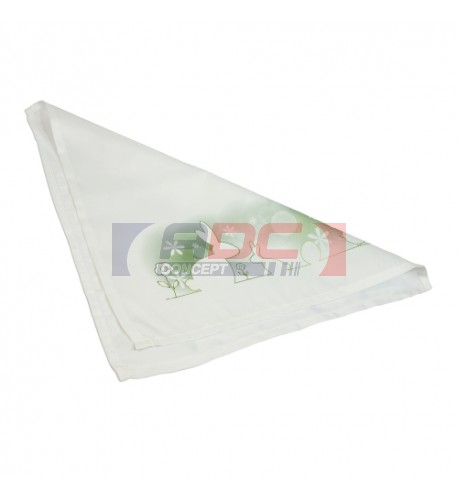 Serviette de table blanche 100 polyester 40 x40 cm