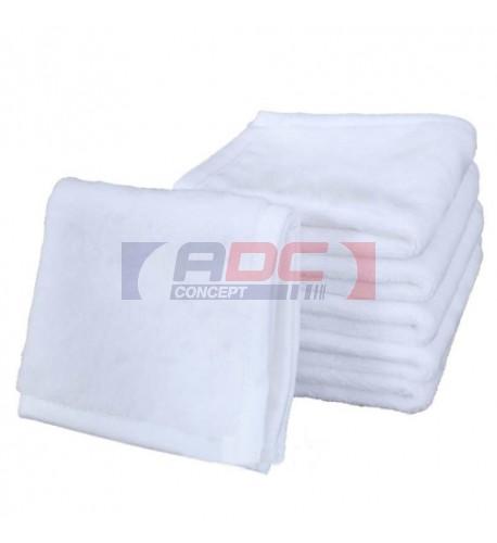 Serviette de toilette avec recto polyester pour sublimation et verso coton