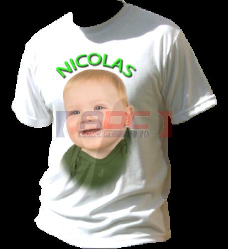 Tee-shirt blanc enfant pour sublimation 50% coton 50% polyester (vendu à l'unité)