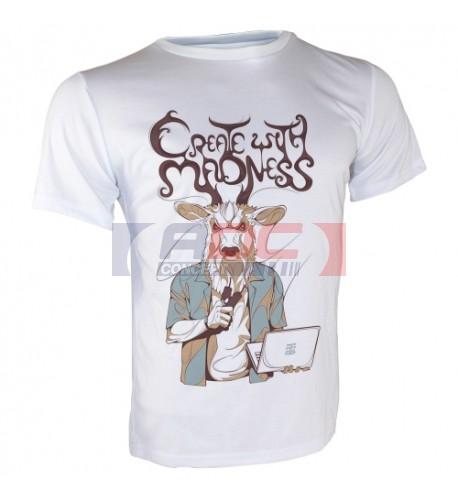 Tee-shirt Royal blanc 140 gr/m² adulte pour sublimation S à XXL (vendu à l'unité)