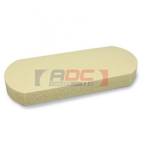 Tapis mousse siliconé, épaisseur 25 mm pour trousse ovale