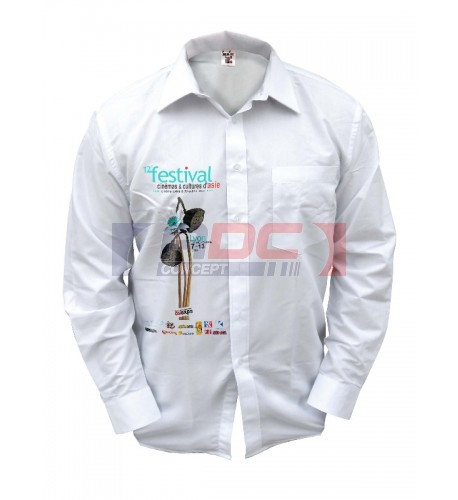 Chemise blanche manches longues 170 gr/m² - 4 tailles