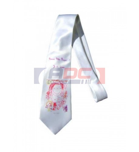 Cravate blanche brillante