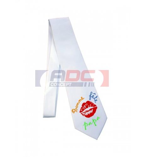 Cravate blanche mate