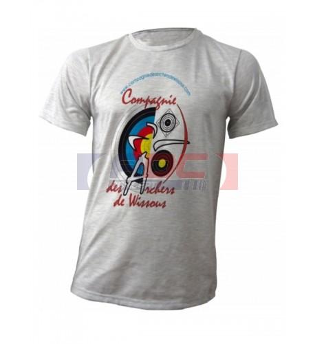 Tee-shirt adulte gris Ash à manches courtes 190 gr/m² (vendu à l'unité)