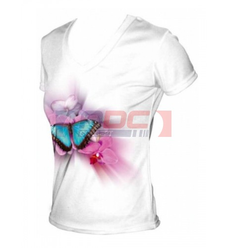 Tee-shirt femme toucher coton  col V 190 g/m² - 3 tailles (vendu à l'unité)