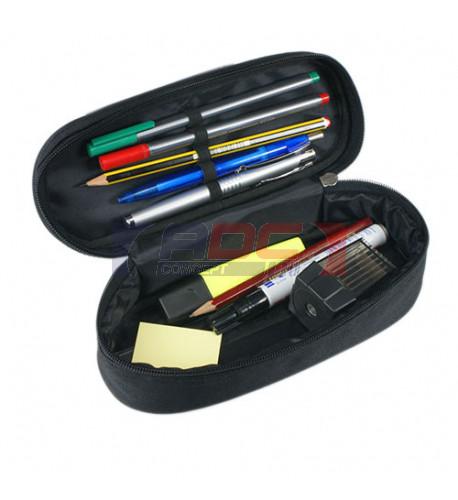 Trousse à crayons noire 23 x 9 x 7 cm (vendu à l'unité)