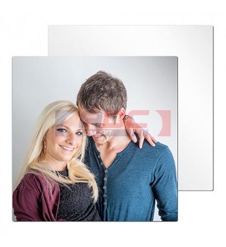 Tableau photo Chromaluxe en aluminium blanc brillant 30 x 30 cm (vendu à l'unité)