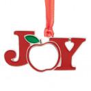 Décoration de Noël à suspendre en métal forme JOY 6 x 3 cm (vendu à l'unité)
