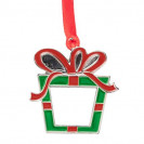 Décoration de Noël à suspendre en métal forme Boite cadeau 4,7 x 5 cm (vendu à l'unité)