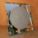 Horloge de bureau carré en verre miroir avec chiffres 20 x 20 cm épaisseur 4 mm (vendu à l'unité)