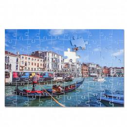 Puzzle blanc brillant cartonné sans cadre 19 x 28 cm épaisseur 2 mm - 70 pièces
