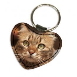 Porte-clé en cuir synthétique coeur 5 x 4,5 cm (vendu à l'unité)