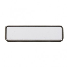 Badge en métal rectangulaire