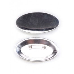 100 badges ovales épingle