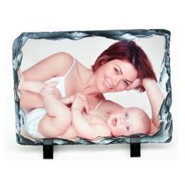 Panneau ardoise brillant rectangulaire 15 x 20 cm épaisseur 10 mm (vendu à l'unité)