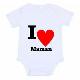 Body pour bébé manches courtes 185 gr/m² - 4 tailles (vendu à l'unité)