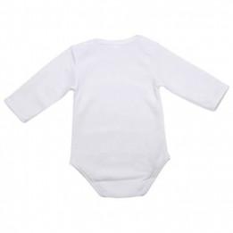 Body pour bébé manches longues 185 gr/m² - 4 tailles (vendu à l'unité)