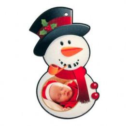 Bonhomme de neige de Noël en feutrine 6 x 11 cm (vendu à l'unité)