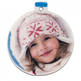 Décoration de Noël à suspendre en plastique forme Boule de Noël 5,3 x 6 cm (vendu à l'unité)