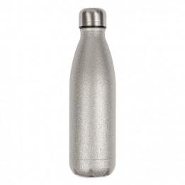 Bouteille isotherme en inox Glitter argent 500 ml et bouchon étanche (vendu à l'unité)