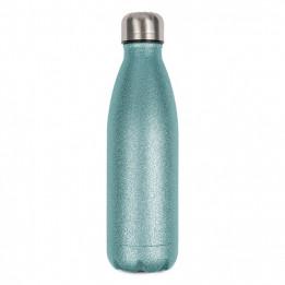 Bouteille isotherme en inox Glitter bleu ciel 500 ml et bouchon étanche (vendu à l'unité)