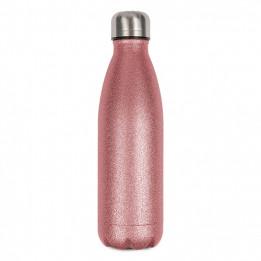 Bouteille isotherme en inox Glitter rose 500 ml et bouchon étanche (vendu à l'unité)