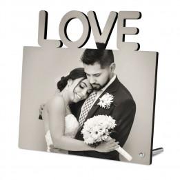 Cadre photo en MDF LOVE 18 x 18 cm (vendu à l'unité)