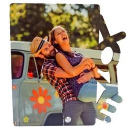 Cadre photo en MDF 20 x 22 cm - Love Vertical pour sublimation (vendu à l'unité)