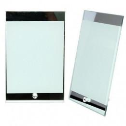 Cadre photo en verre miroir 15 x 23 cm épaisseur 4 mm (vendu à l'unité)
