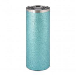 Tasse en acier inoxydable Glitter bleu ciel 580 ml avec bouchon étanche (vendu à l'unité)