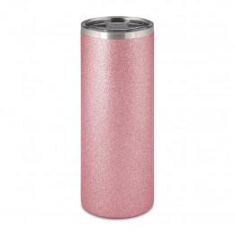 Tasse en acier inoxydable Glitter rose 580 ml avec bouchon étanche (vendu à l'unité)